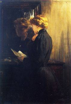 """The Letter""  James Carroll Beckwith  1910"