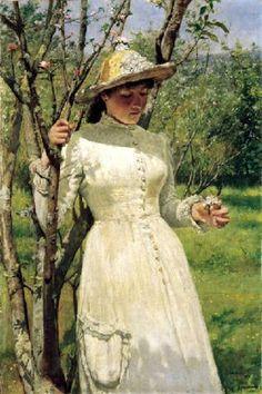 Under The Blossom, Edwin Harris, Pre Raphaelite Paintings, Eye For Beauty, English Artists, Ivy House, First Art, Art Themes, Vintage Artwork, Love Art, Birmingham