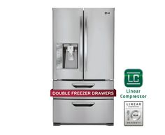 LG LMX31985ST: Super-Capacity 4 Door French Door Refrigerator with Double Freezer Drawers | LG USA