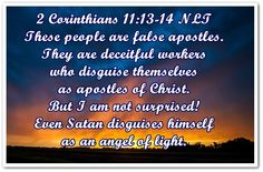 2 Corinthians 11:13-14