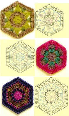 Charts for lots of crochet motifs - now i have to remember how to read the charts