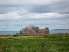 Tantallon Castle with the Bass Rock behind. East L:othian Scotland.