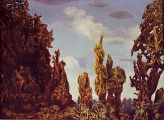 """""""The Fascinating Cypress"""". Max Ernst, 1939"""