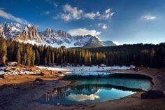 Carezza Lake - Dolomites, Italy, by Matteo Re - Pixdaus