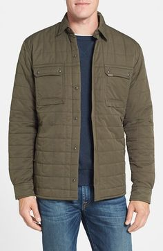 Nordstrom Timberland 'Miller' Water Resistant Quilted Shirt Jacket available at #Nordstrom