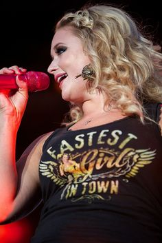 miranda lambert in a junk gypsy designed 'fastest girl in town' tee