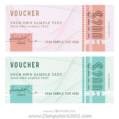 Abstract Voucher Templates