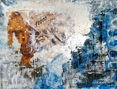 Medium Art, Mixed Media Art, Painting, Mountains, Atelier, Painting Art, Mixed Media, Paintings, Painted Canvas