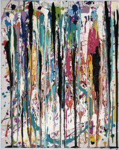 """Saatchi Online Artist Jeanine Heller; Painting, """"Six Drips"""" #art"""
