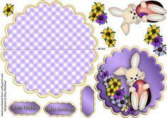 Easter Bunny Wobble Card