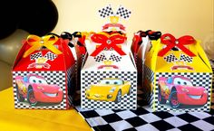Cars Candy favor box ,Birthday decoration, Party, Cars theme, boys by sempartydesing on Etsy https://www.etsy.com/listing/549331721/cars-candy-favor-box-birthday-decoration