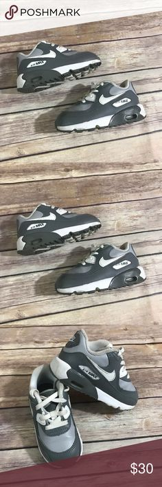 "​ Nike Air Max 90 LTR (TD) Wolf Grey White Cool 7 ​ Nike Air Max 90 LTR (TD) Wolf Grey White Cool Grey Shoes 7 Very good used condition. Child size 7. Light wear. Please ask questions if any before purchase. Some darkening around the ""collar"" of the shoe. See pics. 833416-003 #wolfgrey #coolgrey #white #shoes #kicks #airmax #nike #coolkicks Nike Shoes Sneakers"