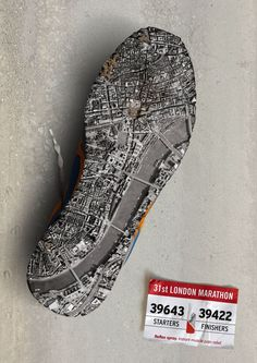 Another cool one with the city of London layered over the bottom of a shoe.  I don't know if the ad is effective as a pain relief one, it's much more memorable as an ad for the marathon.