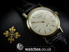 Beautiful Patek Philippe Vintage Calatrava 18ct Watch - Ref 2584. Dated 1959, this Patek is particularly sought after as not only is it a large size (35mm) it also has a rare caseback. We Buy and Sell Patek Philippe Watches. Contact Us - www.watches.co.uk
