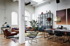 Loft style living space by Alexander van Berge Follow Gravity Home: Blog - Instagram - Pinterest - Bloglovin - Facebook