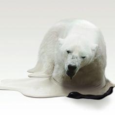 Japanese artist Takeshi Kawano created this eye opening collection of Global Warming Melting Animals in order to raise awareness.