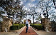 This is a picture of an engagement session that happened on AU's campus. So pretty! Check it out!