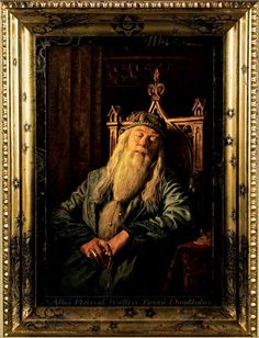 The Portrait of Albus Percival Wulfric Brian Dumbledore, hanging in Hogwarts School.
