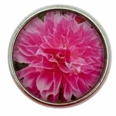 #3024 Pink Flower Snap 20mm for Snap Jewelry