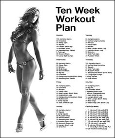 Ten week workout plan