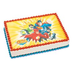 Justice League Edible Image Cake Topper Batman Birthday Cakes Superhero Party Decorations