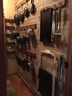 Pots and pans storage - pantry wall