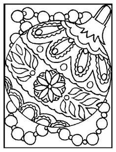 Dibujos y Plantillas para imprimir: Plantilla de dibujos Borlas navidad 03