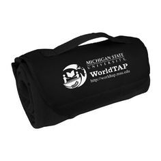 "Wrap your clientele and your campaign in this Tanglewood Fleece Roll Up Blanket! Made of 100% polyester fleece with Velcro closure and carrying handle, this soft comforter measures 12"" W x 6"" D rolled up, and 45"" W x 63"" L unrolled. With a washable surface and a thickness of 380 grams, this super-snug coverlet is perfect marketing for beach resorts and outdoor festivals. Order yours today, bundle up your body and expose your brand!"