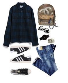 """""""Summer #4"""" by fachrur-roziq on Polyvore featuring Chanel, adidas Originals, Topman and Uniform Wares"""
