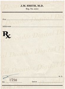 prescription pad samples - : Yahoo Image Search Results | work ...