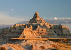 Badlands National Park  Badlands National Park, in southwest South Dakota preserves 242,756 acres of sharply eroded buttes, pinnacles, and spires blended with the largest protected mixed grass prairie in the United States
