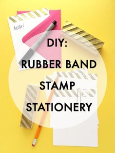 SAS+ROSE: DIY: RUBBER BAND STAMP STATIONERY