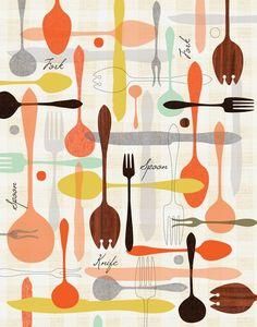 would make really cute kitchen curtains (automatism: Atelier: Jenn Ski)