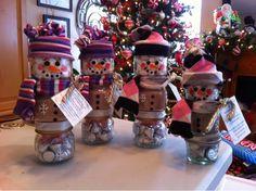 Hot Chocolate Snowman jars