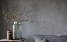 Nice atmosphere created by &Styling with the lime paint Thunder Sky from Pure & Original.
