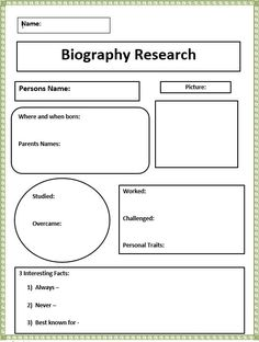 1000 images about biography on pinterest george for Bio questionnaire template