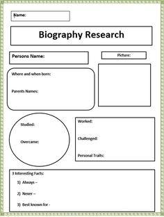 writing a biography essay