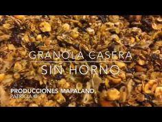 Granola Casera SIN HORNO En Cacerola - YouTube Bakery Recipes, Beans, Snacks, Vegetables, Desserts, Food, Videos, Kitchen, Youtube