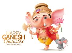 Ganesha and mushika. Happy Ganesh chaturthi character with Ganesha and mushika , Ganesh Chaturthi Greetings, Happy Ganesh Chaturthi Wishes, Happy Ganesh Chaturthi Images, Ganesh Lord, Shri Ganesh, Ganesha Art, Krishna, Ganesh Images, Ganesha Pictures