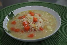 Aprenda a preparar a receita de Canja de galinha rápida