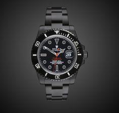 TITAN BLACK Rolex Submariner Stealth DLC BLACK ROLEX PVD