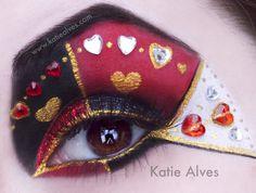 Alice in Wonderland Queen of Hearts Costume | Alice In Wonderland Inspired Eye Makeup