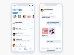 iPhone X Message by Gloria Qiu Android App Design, Ios App Design, Web Ui Design, Whatsapp Spy, Whatsapp Theme, Ux Design Principles, Ui Design Mobile, Restaurant App, App Design Inspiration