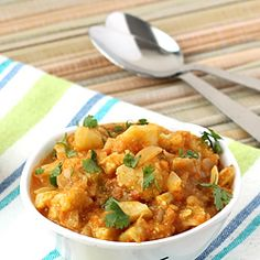 Aloo Gobi Curry with Spicy Gravy