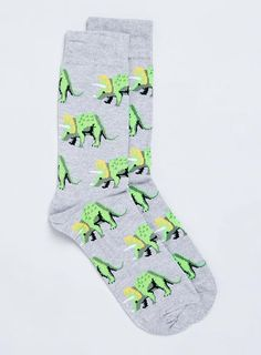 Grey Marl Triceratops Socks