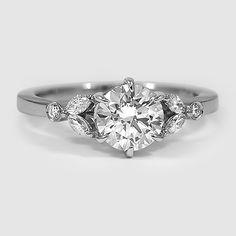 18K White Gold Verbena Diamond Ring