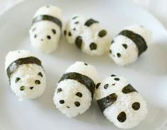 Sticky rice pandas