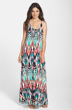FELICITY & COCO Print Jersey A-Line Maxi Dress (Nordstrom Exclusive) available at #Nordstrom