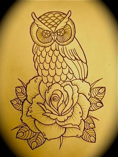 Owl and rose sketch 2010 | Flickr - Photo Sharing!