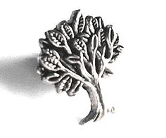 Silver Tree of Life Men's Tie Tack / Lapel OR Ladies by Lynx2Cuffs, $11.99